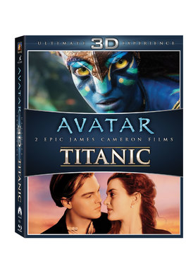 BOX-SET 3D AVATAR+TITANIC (6 discuri)