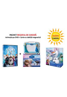 PACHET REGATUL DE GHEATA DVD +CARTE LITERA cu tablita magnetica