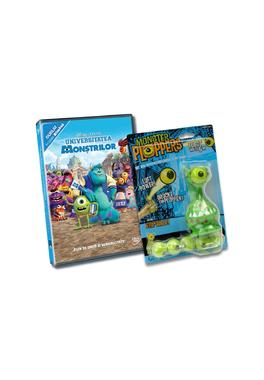 Pachet DVD Monsters University  + Jucarie Alien Plopper