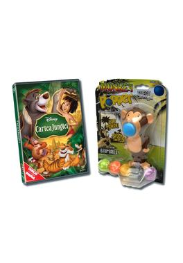 Pachet DVD Jungle Book + Jucarie Monkey Plopper