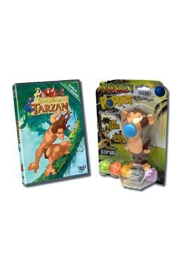 Pachet DVD Tarzan + Jucarie Monkey Plopper 2