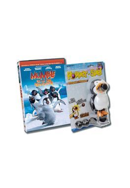 Pachet DVD Happy Feet 1 + Jucarie Pinguin Plopper