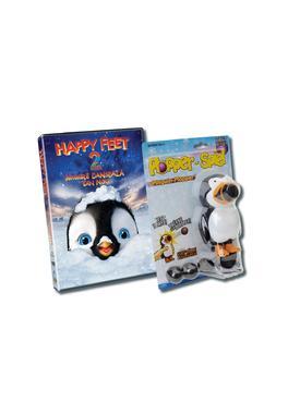 Pachet DVD Happy Feet 2 + Jucarie Pinguin Plopper