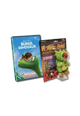 Pachet DVD The Good Dinosaur+ Jucarie Dragon Plopper