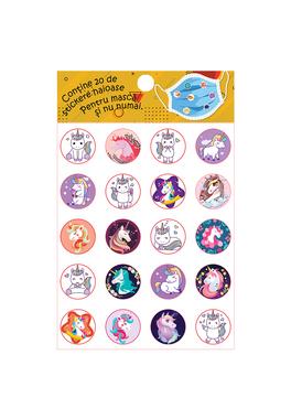 Set stickere pentru masca protectie-Unicorni