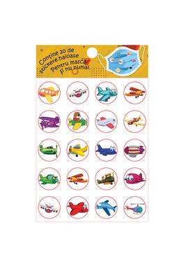Set stickere pentru masca protectie-AVIOANE