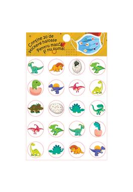 Set stickere pentru masca protectie-Dinozauri